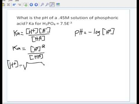 How to find pH from molarity and Ka