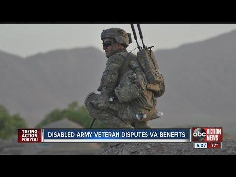 Disabled Army veteran disputes VA benefits