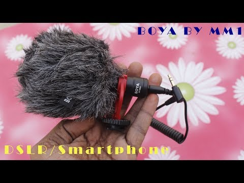 BOYA BY MM1 Microphone - Best Mic for DSLR/ Smartphone - Without Battery