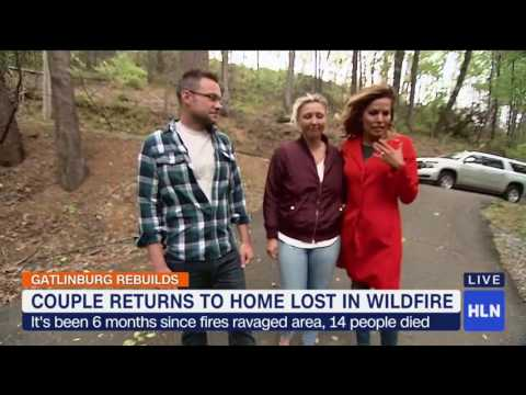 Couple returns to home lost in Gatlinburg fire