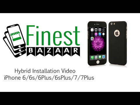 iPhone 6/6s Hybrid 360 Case Full Body Luxury Cover + Tempered Glass by FinestBazaar