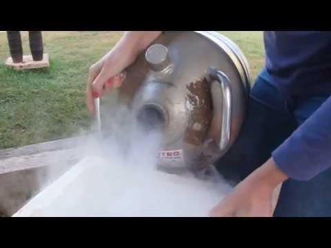 Liquid nitrogen for freezing biological material