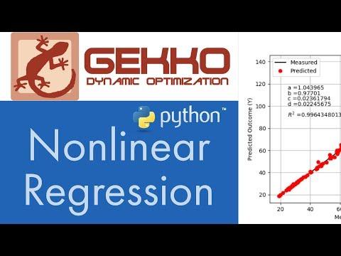 Nonlinear Regression in Python GEKKO