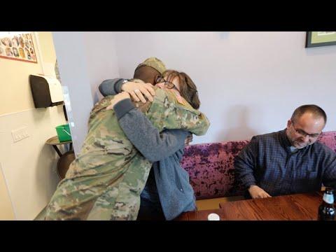 Military Son Surprises Mum For Birthday