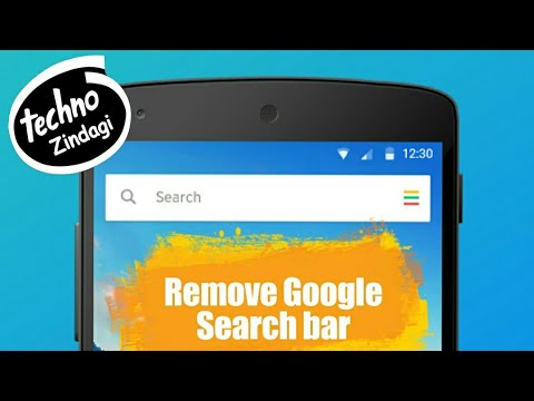 How to remove the Google search bar in android phones