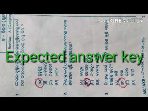 10th Class Social Science Expected Answer key BSE ODISHA