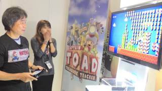 Shigeru Miyamoto playing Super Mario Maker