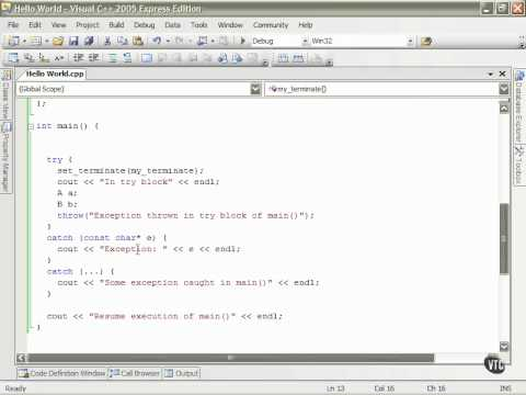 09  C++ Exception Handling   53  Stack Unwinding