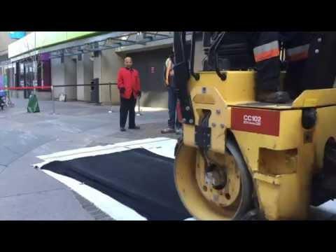 AlbertaPrintmakers Steamroller Printing Demonstration