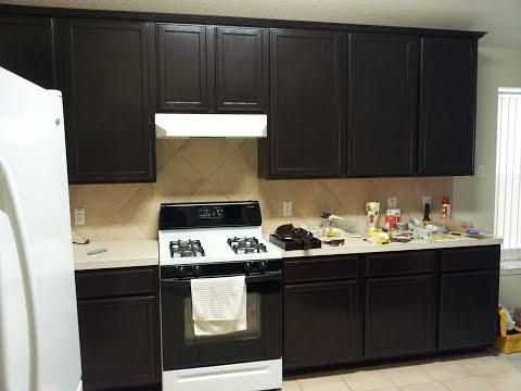 Gel staining kitchen cabinets