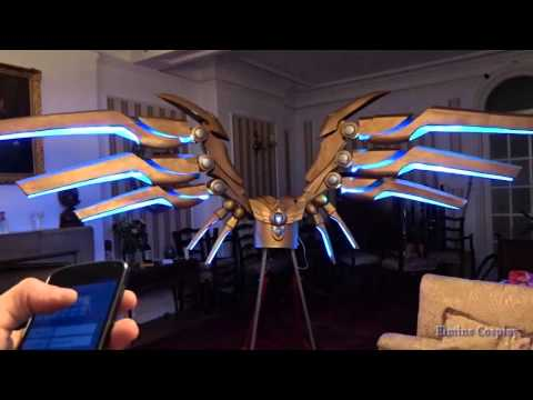 My Giant motorized Aether Wing Kayle cosplay - ElminsCosplay