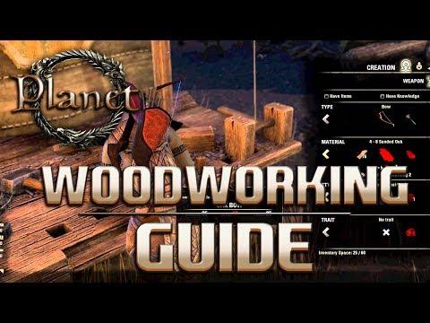 Elder Scrolls Online (ESO) - Woodworking (Bow,Staff & Shield) Guide