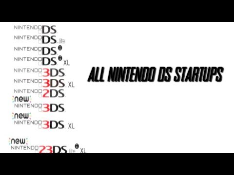 All Nintendo DS Startup Screens / Boot Up Screens | DS, DSi, 3DS, 2DS