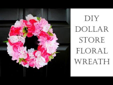 DIY Dollar Tree Floral Wreath
