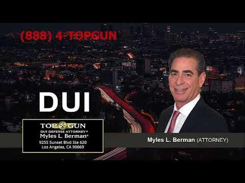 Potential Sentences Associated With A DUI Conviction In California   (888) 4-TOPGUN
