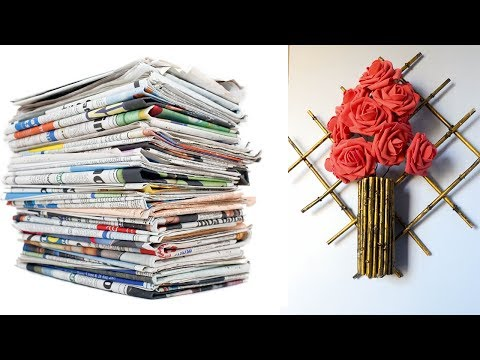 SUPER COOL CRAFTS WITH NEWSPAPER