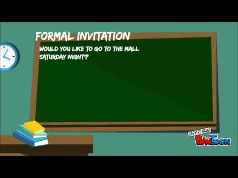Accept and refuse invitations