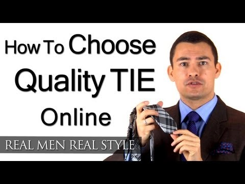 3 Tie Buying Tips - How To Buy A Quality Necktie Online - Choosing The Right Tie