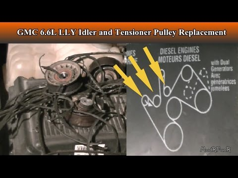 Duramax 6.6L LLY Tensioner and Idler Pulley Replacement