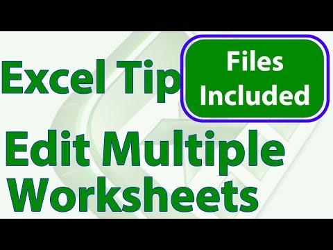 Edit Multiple Worksheets at Once in Excel