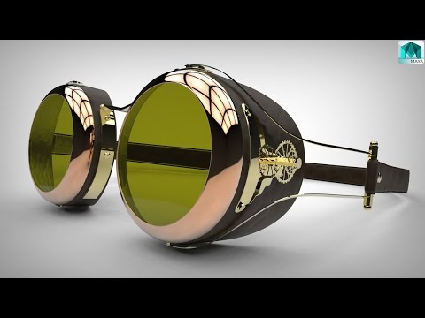 How to model Steampunk goggles in Maya ( Part 1 of 2 )