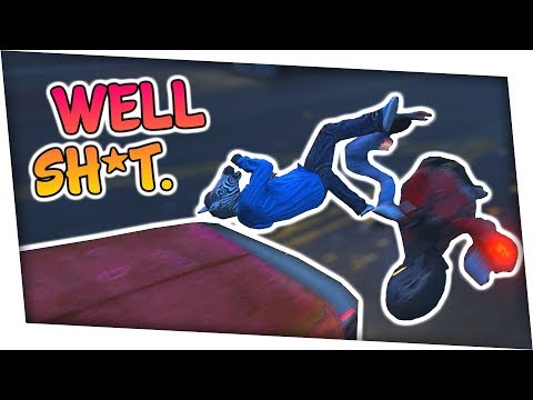 MENTALLY CHALLENGED PRO STUNTERS | GTA 5 Funny Moments w/ Friends