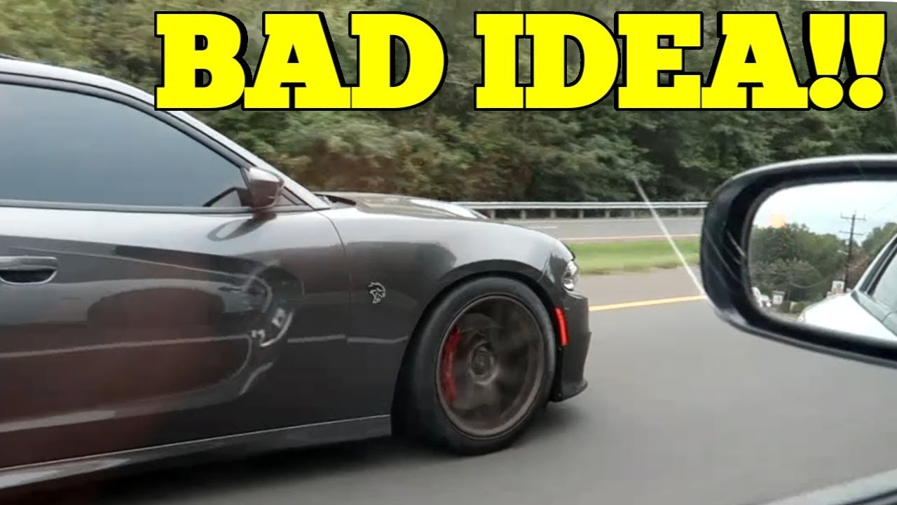 Never Try To Race A Dodge Charger SRT Hellcat In Your RT!
