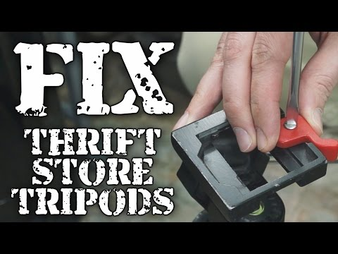 DIY: How to fix thrift store tripods