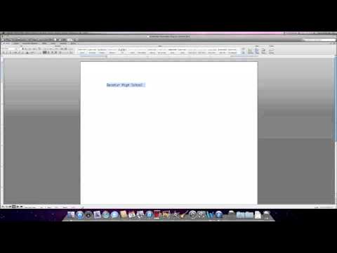 How to make a Title in Word 2008 for Mac