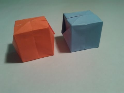 Origami - How to make a easy origami cube (3D)