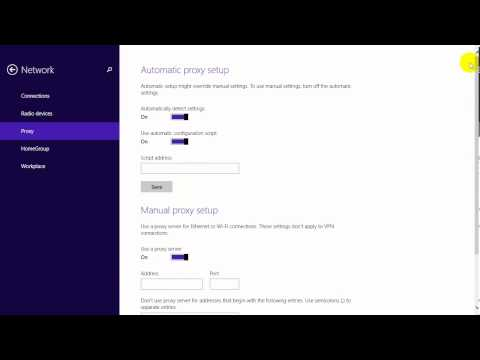 How to Set up Proxy Server on Windows 8 1