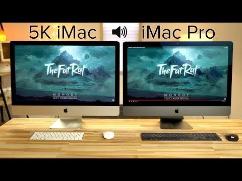 iMac Pro vs 5K iMac Speaker & FaceTime Comparison