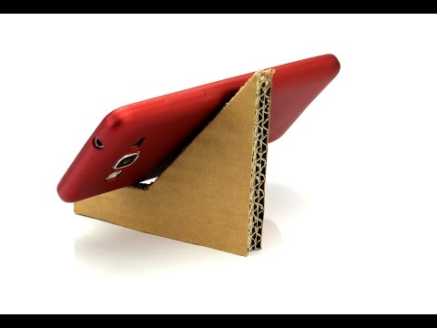 How To Make Cheap Cardboard Stand For Smartphones   How To make your Mobile Stand Using Cardboard