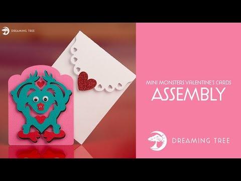 SVG File - Mini Monsters Valentine's Cards SVG - Monster C