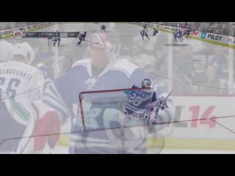 NHL 14: Playing Goalie - My First Ever Shutout