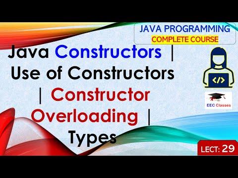 Constructors in Java, Constructor Overloading, Types of Java Constructors
