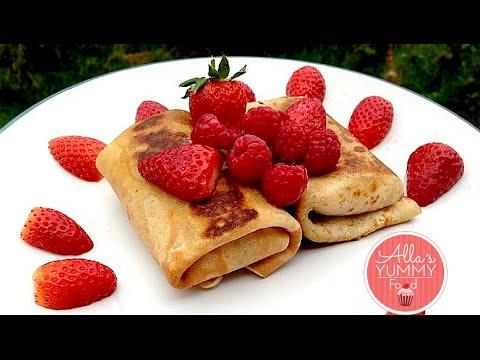 How to make Pancakes with cottage cheese filling - Блинчики с творогом и изюмом