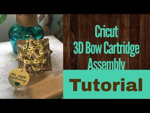 Cricut 3D Bow Assembly Tutorial