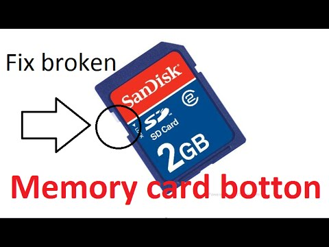 How To Fix/Repair a Broken/Corrupted Memory Card Button | Fix lock Protection