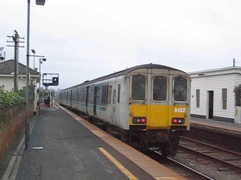 UK: Northern Ireland Railways Class 450 'Castle' DEMU at Moira on a Larne Harbour to Portadown train