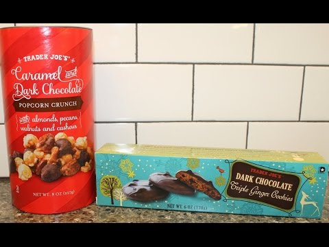 Trader Joe's Caramel & Dark Chocolate Popcorn Crunch and Dark Chocolate Triple Ginger Cookies Review