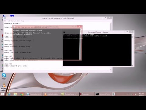 How to make bootable USB using  cmd prompt...