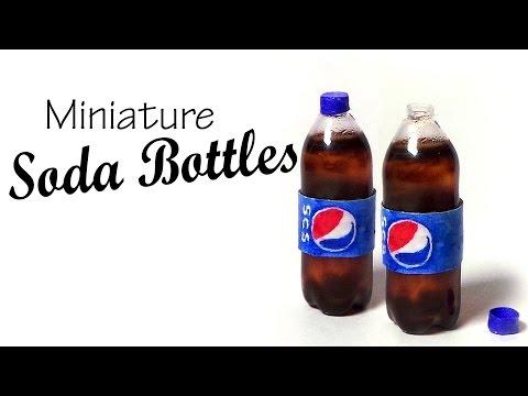 Miniature Soda Bottle Tutorial - Pepsi Inspired
