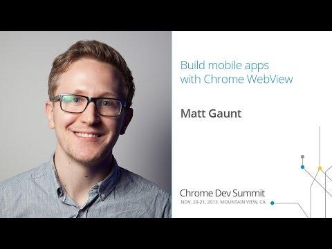 Build mobile apps with Chrome WebView - Chrome Dev Summit 2013 (Matt Gaunt)