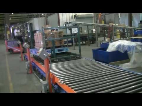 LEWCO's Custom Five Zone 24VDC Poly-V Roller System Conveyor