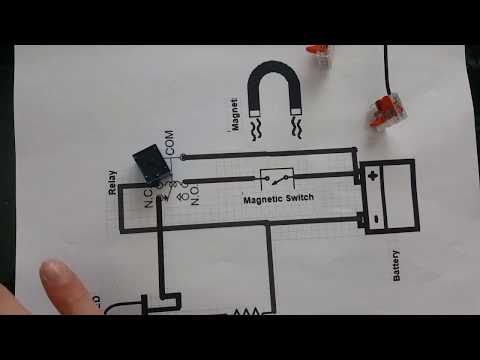 How to make the simplest door Alarm with Magnetic switch