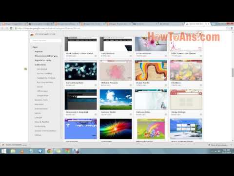 How to change theme or background of google chrome