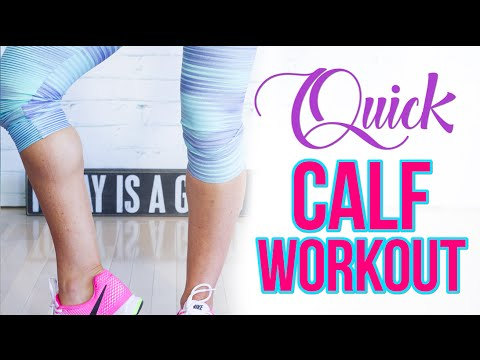 Quick At Home Calf Workout | Natalie Jill