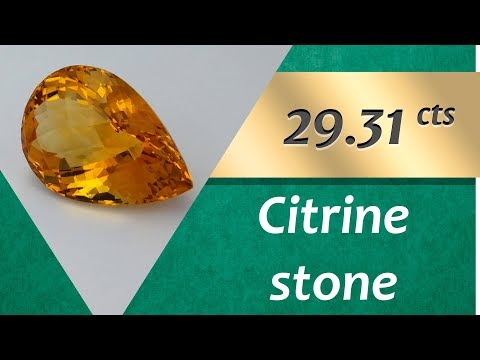 Citrine Stone. 29.31 Carat Natural Stone of Citrine