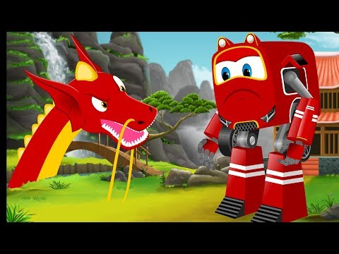 SuperCar Baby Rikki Rescue Kids from Scary Dragon | Kids Cartoon Video